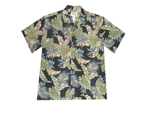Hawaiian Men's Leaf Shirt (100% Cotton Poplin)