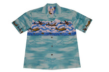 Load image into Gallery viewer, Men's Hawaiian World War II Vintage Planes Shirt (100% Cotton Poplin) 4 colors available
