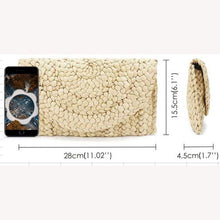 Load image into Gallery viewer, Eco Friendly Hand Woven Straw Clutch Handbag