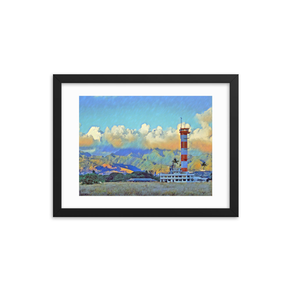 Ford Island, Pearl Harbor Hawaii Framed Poster - Anchor Designs Hawaii