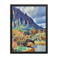 Load image into Gallery viewer, Ho'omaluhia Botanical Garden Framed poster