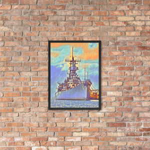 USS Missouri (BB-63) Battleship Framed poster - Anchor Designs Hawaii