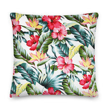 Load image into Gallery viewer, Hawaiian Hibiscus Premium Pillow - Anchor Designs Hawaii