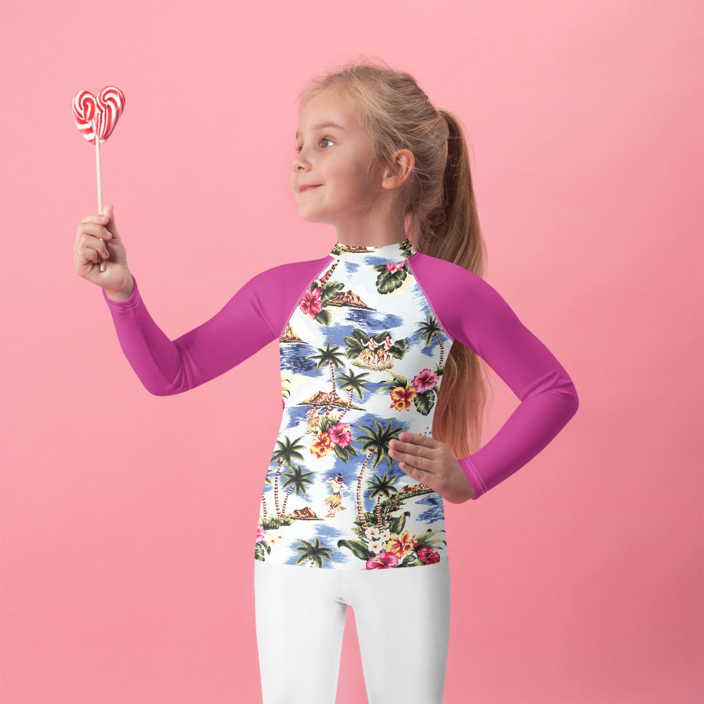 Classic Hawaiian Kids Rash Guard -  Anchor Design Hawaii