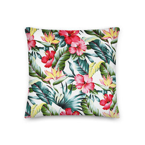 Hawaiian Hibiscus Premium Pillow - Anchor Designs Hawaii