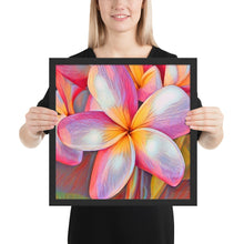 Load image into Gallery viewer, Pink Plumeria Hawaiian Flower Framed poster
