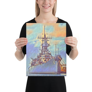USS Missouri (BB-63) Battleship Canvas