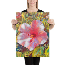 Load image into Gallery viewer, Pink Hibiscus Hawaii State Flower Canvas