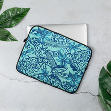 Load image into Gallery viewer, Hawaiian Teal Laptop Sleeve - Anchor Designs Hawaii