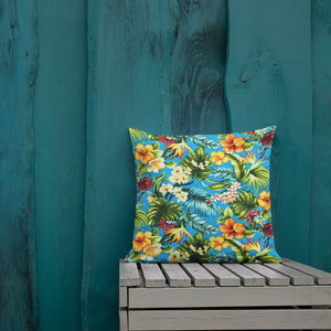 Tropical Colorful Premium Pillow - Anchor Designs Hawaii