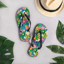 Load image into Gallery viewer, Bright Hawaiian Tropics Flip-Flops