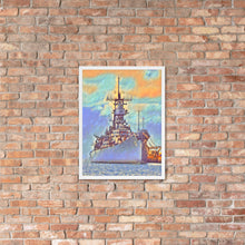 Load image into Gallery viewer, USS Missouri (BB-63) Battleship Framed poster - Anchor Designs Hawaii