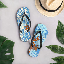 Load image into Gallery viewer, Coral Reef Flip-Flops