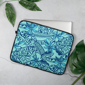 Hawaiian Teal Laptop Sleeve - Anchor Designs Hawaii