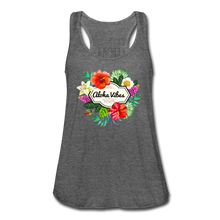 Load image into Gallery viewer, Women's Flowy Aloha Vibes Tank Top by Bella - deep heather