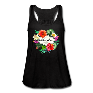 Women's Flowy Aloha Vibes Tank Top by Bella - black