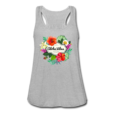 Load image into Gallery viewer, Women's Flowy Aloha Vibes Tank Top by Bella - heather gray