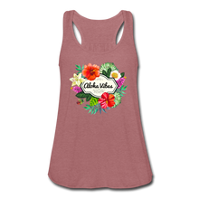 Load image into Gallery viewer, Women's Flowy Aloha Vibes Tank Top by Bella - mauve
