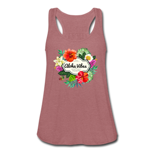 Women's Flowy Aloha Vibes Tank Top by Bella - mauve