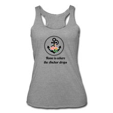 Load image into Gallery viewer, Women's Tri-Blend Racerback Anchor Tank - heather gray