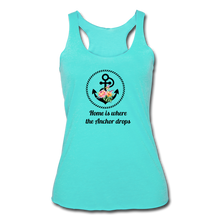 Load image into Gallery viewer, Women's Tri-Blend Racerback Anchor Tank - turquoise