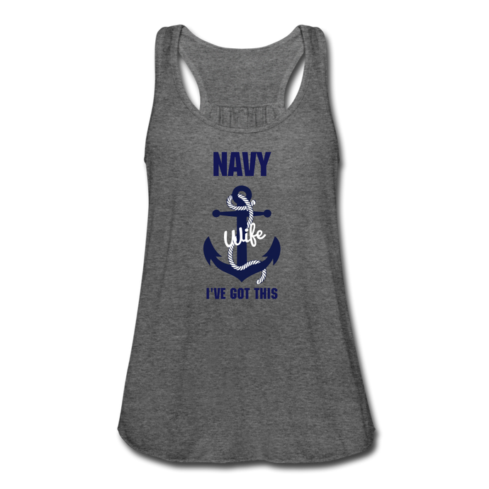 Women's Flowy Navy I've Got This Tank Top by Bella - deep heather
