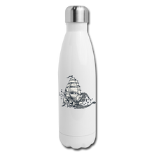 Load image into Gallery viewer, Insulated Stainless Steel Waves Water Bottle - white