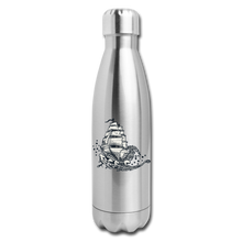 Load image into Gallery viewer, Insulated Stainless Steel Waves Water Bottle - silver