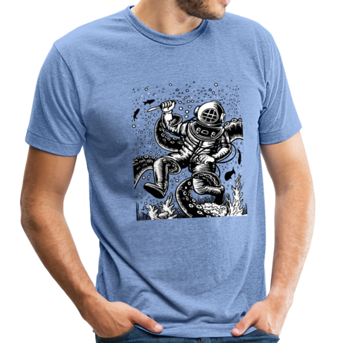 Divers Unisex Tri-Blend T-Shirt - heather Blue