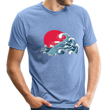 Load image into Gallery viewer, Unisex Great Waves Tri-Blend T-Shirt - heather Blue