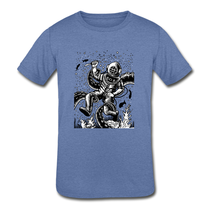 Kid's Diver Tri-Blend T-Shirt - heather Blue