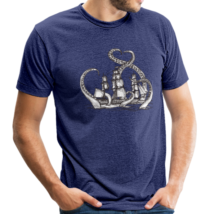Unisex  Ship Tri-Blend T-Shirt - heather indigo