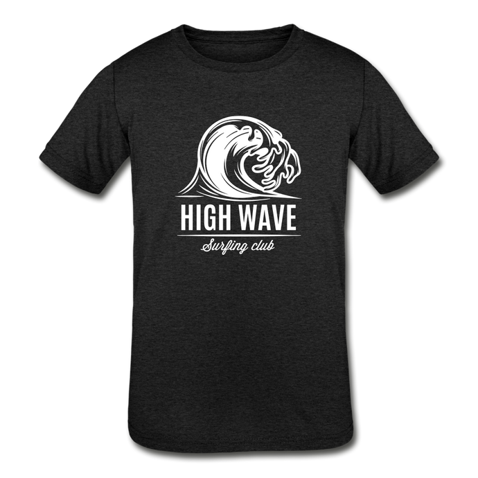 Kids' Surfing Tri-Blend T-Shirt - heather black