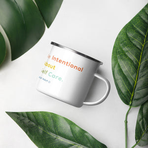 Be Intentional Colorful Enamel Mug - Dolce Fleur