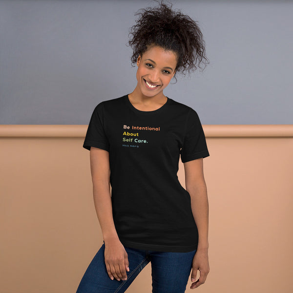 Be Intentional Colorful Crew Neck Tee - Dolce Fleur