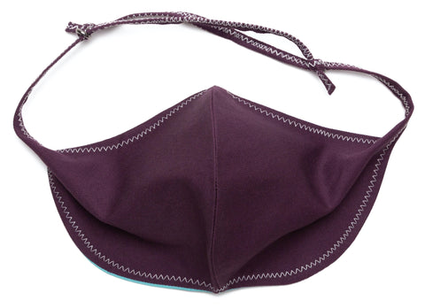 Basic Twill - Cotton plum antiviral face masks | Out and About Supply
