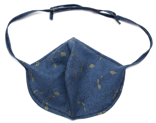 Blossom Coronavirus Face Masks in Blue Dusk Design | Out and About Supply