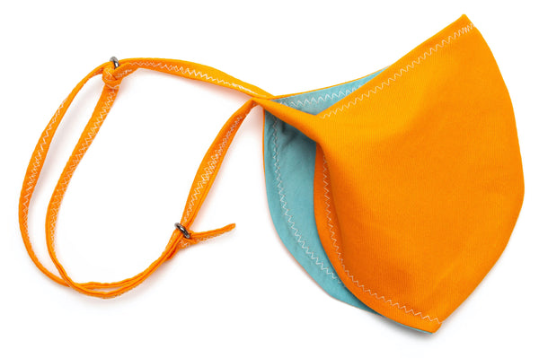 Bright Twill Cotton Maks- Top Selling Masks designs in Orange Color Slide | Out and About Supply