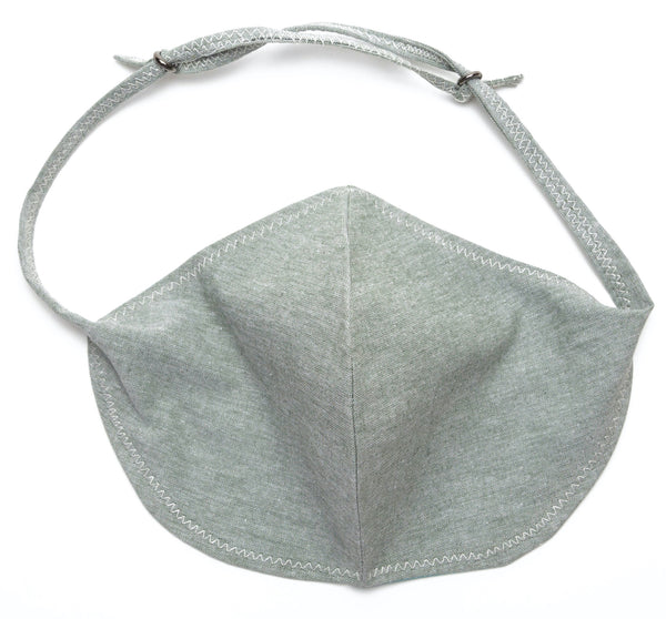 Chambray Reusable Face Masks designs in Celadon Color | Out and About Supply