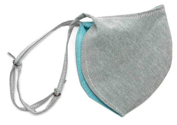 Chambray Reusable Face Masks designs in Celadon Color Slide | Out and About Supply