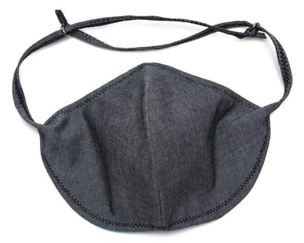 Chambray Reusable Face Masks designs in Grey Color | Out and About Supply