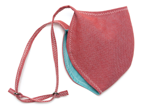 Chambray Reusable Face Masks designs in Red Color Slide | Out and About Supply