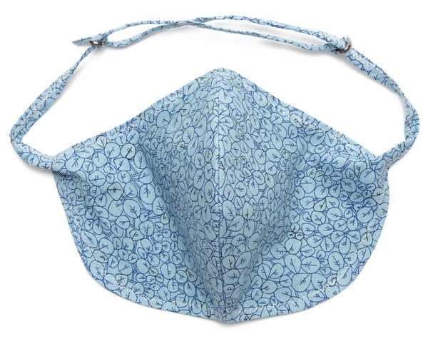 Leafy Masks online for covid - Sky Blue color | Out and About Supply
