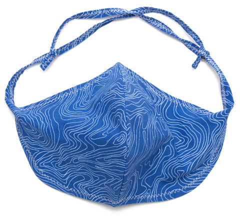 Wavy face mask for virus protection in Royal Blue color | Out and About Supply