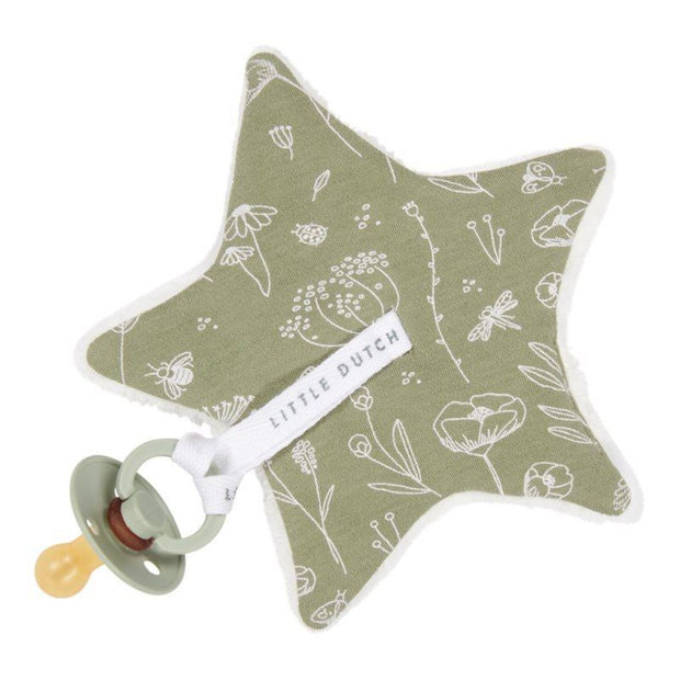 Little Dutch Pacifier Cloth - Wild Flowers Olive