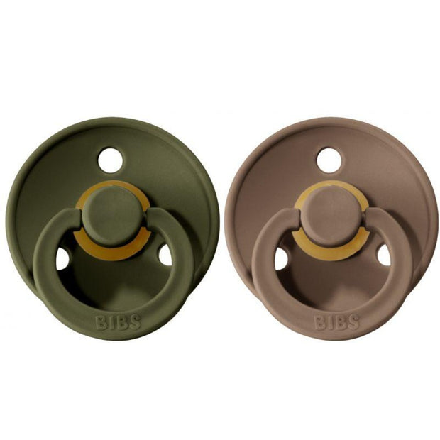 BIBS COLOUR Natural Rubber Pacifier - Hunter Green/Dark Oak BIBS