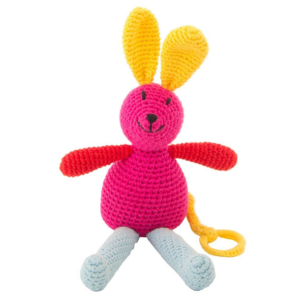 Crochet Musical Bunny Fuchsia Global Affairs