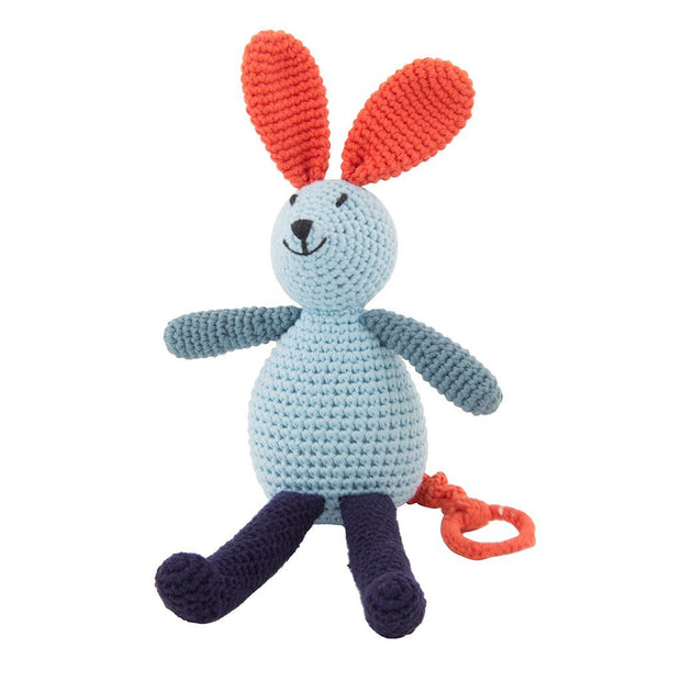 Crochet Musical Bunny Light Blue Global Affairs