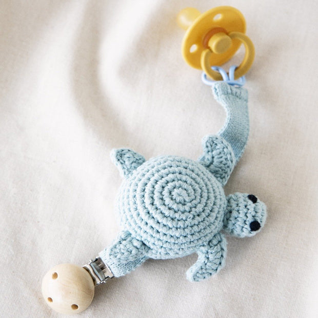 Crochet Pacifier Cord Turtle Global Affairs