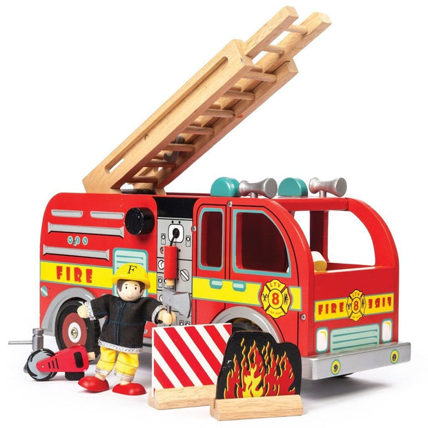 Le Toy Van Wooden Fire Engine Le Toy Van